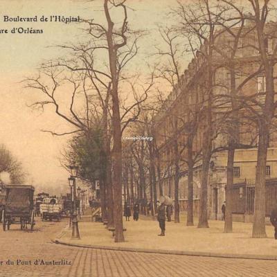 Au pècheur du Pont d'Austerlitz - PARIS - Bld de l'Hôpital et Gare d'Orléans