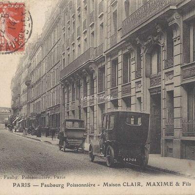 Aubry - Faubourg Poissonnière - Maison Clair, Maxime & Fils