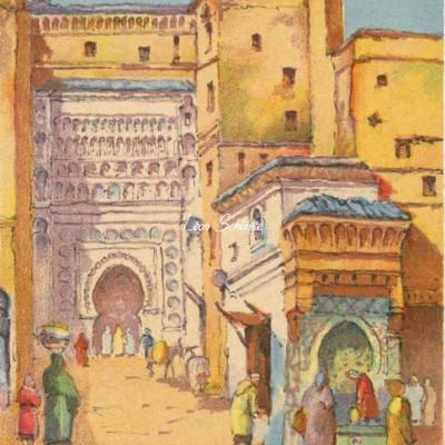 3502 - Scènes Marocaines