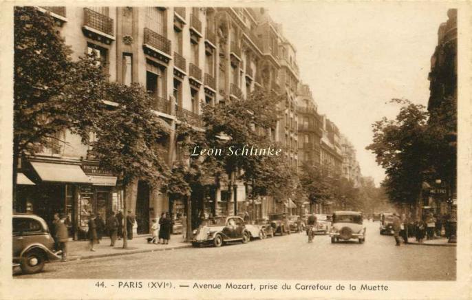 Barberon  44 - Avenue Mozart, prise du Carrefour de la Muette