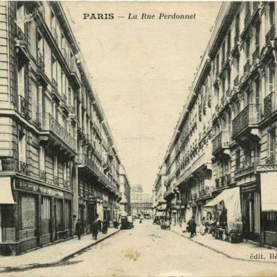 Bénard édit . - PARIS - La rue Perdonnet