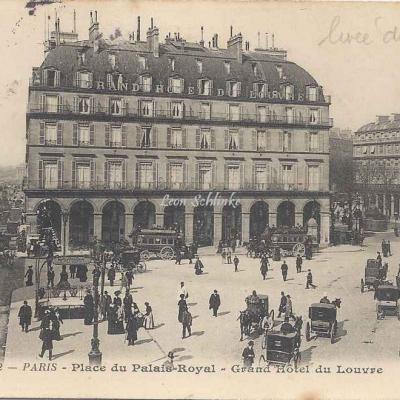 BF - 2 - Place du Palais Royal - Grand Hôtel du Louvre
