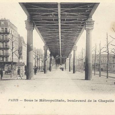 BF 239 - Sous le Métropolitain, boulevard de la Chapelle
