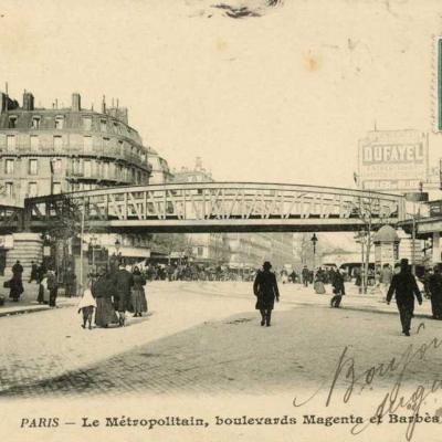 BF 240 - Le Métropolitain, boulevards Magenta et Barbès