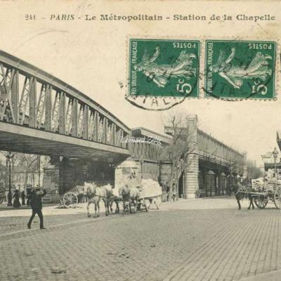 BF 241 - PARIS - Le Métropolitain - Station de la Chapelle