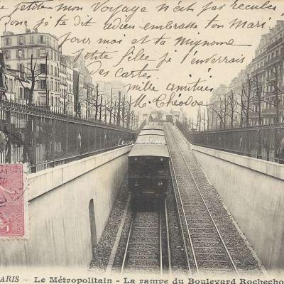 BF 272 - Le Metropolitain - La rampe du Boulevard Rochrchouart