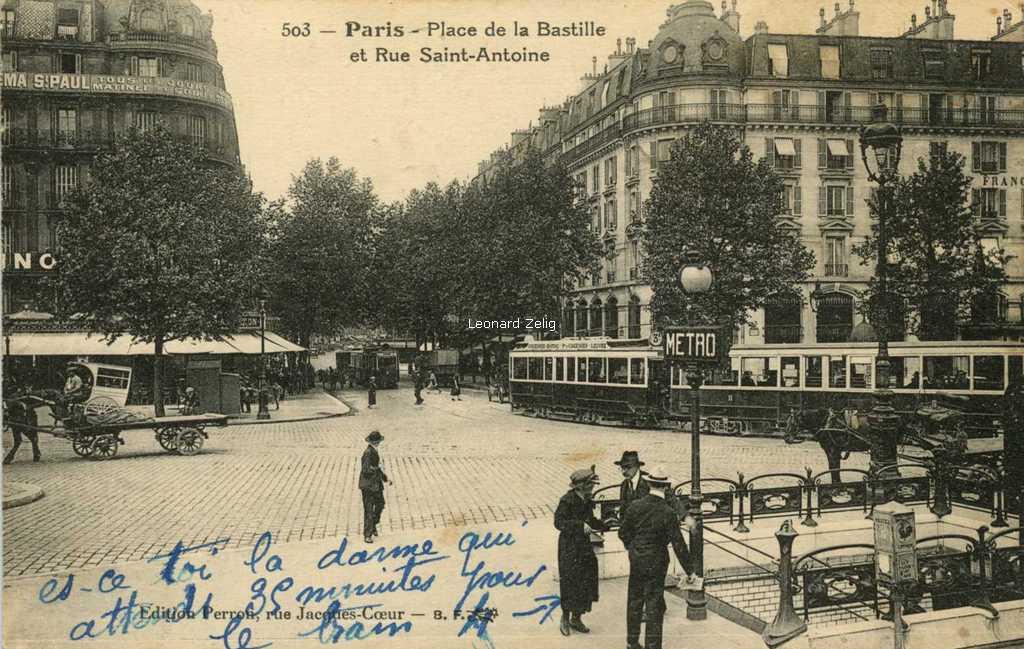 BF 503 - Paris - Place de la Bastille et Rue Saint-Antoine
