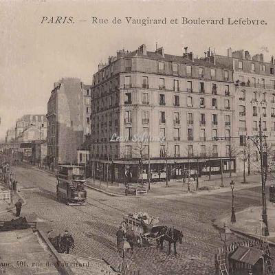 Blanc E. - Rue de Vaugirard et Boulevard Lefebvre