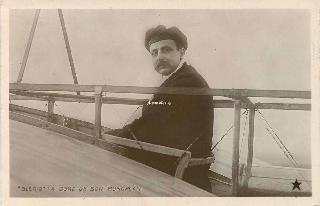 Blériot à bord de son Monoplan