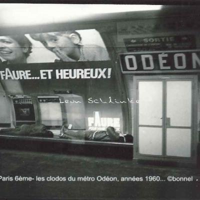 Bonnel - Les clodos du métro Odéon vers 1960