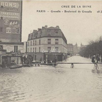 ELD - Boulevard de Grenelle inondé