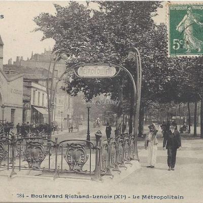CP 784 - PARIS - Boulevard Richard-Lenoir - Le Metropolitain