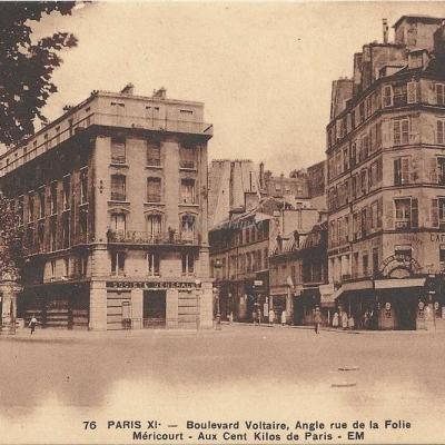 Boulevard Voltaire Angle rue de la Folie Mericourt - EM 76