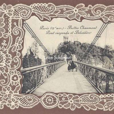 Buttes-Chaumont, Pont Suspendu et Belvédère
