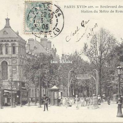Cadot 39 - Boulevard des Batignolles. Station du Métro de Rome