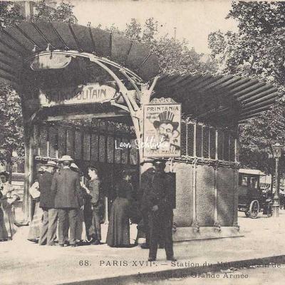 Cadot 68 - Station du Métro de Maillot - Av. de la Grande-Armée