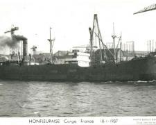 Cargo HONFLEURAISE France 18-1-1937