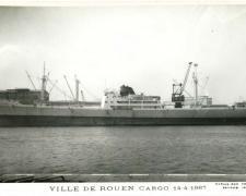 Cargo VILLE DE ROUEN 14-4-1967