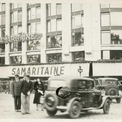 Carte-photo - A la Samaritaine en Juin 1933