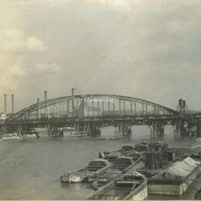 Carte-photo - Construction du Viaduc d'Austerlitz