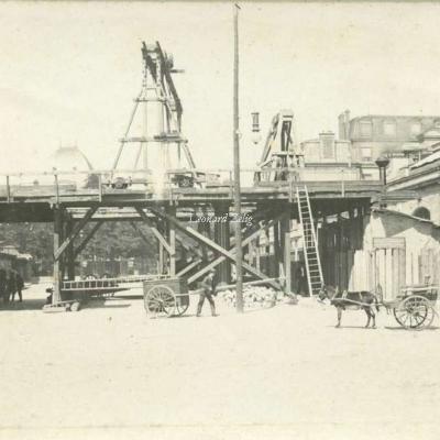 Carte-photo - Construction du Viaduc en Gare d'Austerlitz