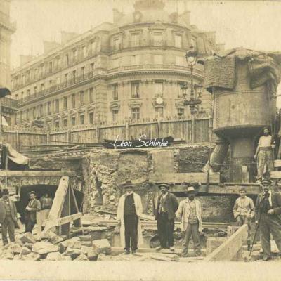Carte-photo - Place de l'Opéra à la Rue du 4 Septembre