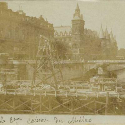 Carte photo - Le 2ème caisson du Métro, Pont au Change