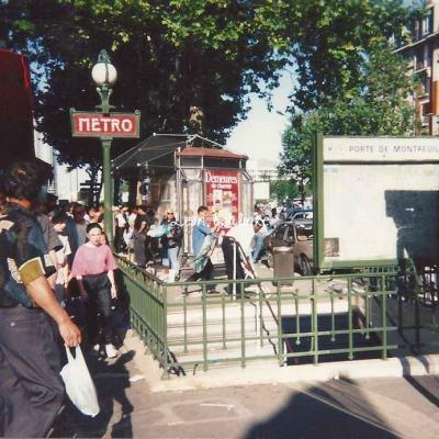 Carte-photo Porte de Montreuil