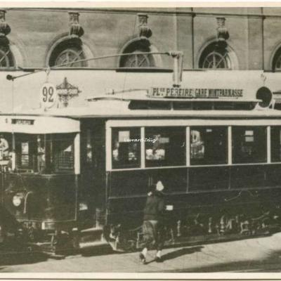 Carte photo - Tramway 92 à Montparnasse