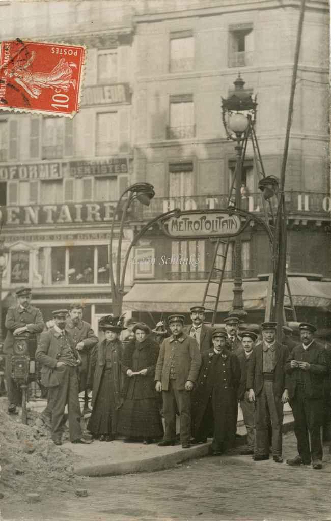 Carte-photo - Travaux et personnel du Métro