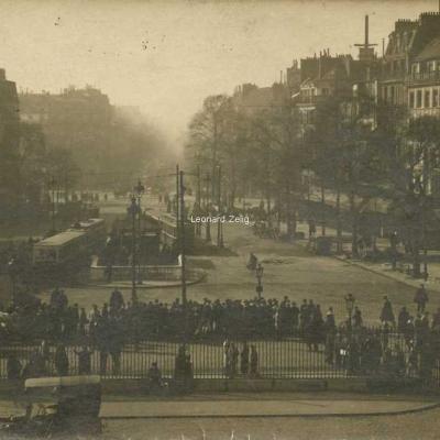 Carte photo - Vue depuis la Gare de l'Est