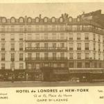 Carte-pub - HOTEL DE LONDRES et NEW-YORK