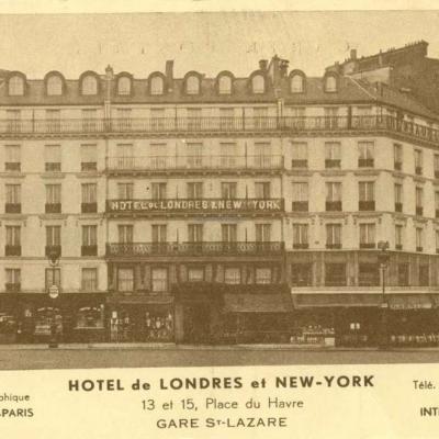 Carte-pub - HOTEL DE LONDRES et NEW-YORK