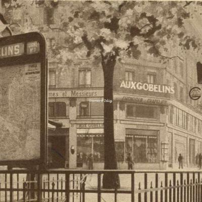 Carte-Pub - Paris - Grands Magasin ''AUX GOBELINS'' 49-51 Avenue des Gobelins
