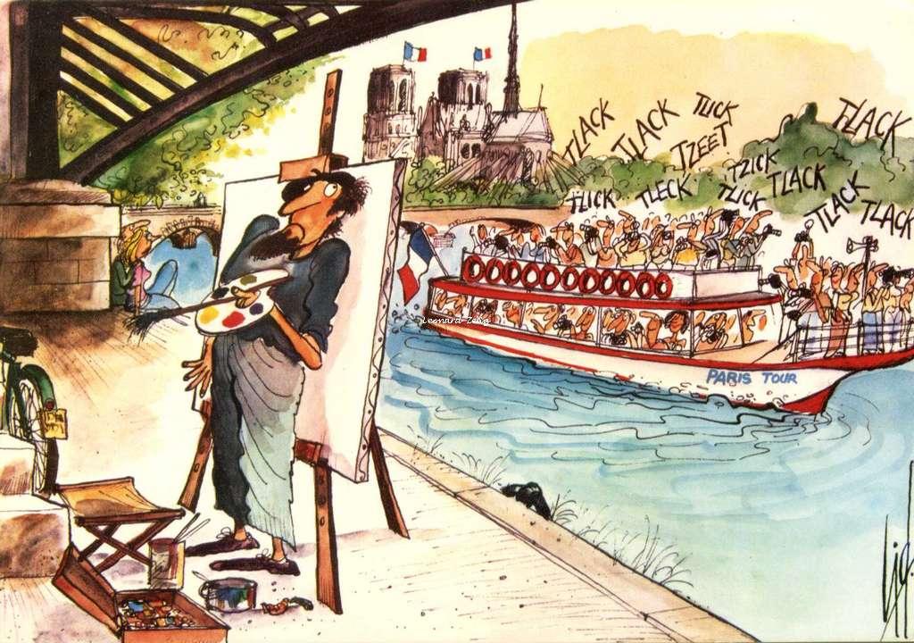 Cid 9 - Le Tour de la Seine et peintre de la rive gauche