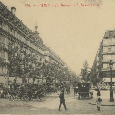 CJ 116 - PARIS - Le Boulevard Haussmann
