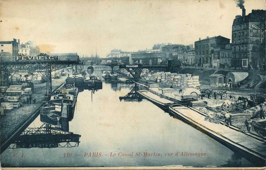 CJ 119 - PARIS - Le Canal St-Martin, rue d'Allemagne