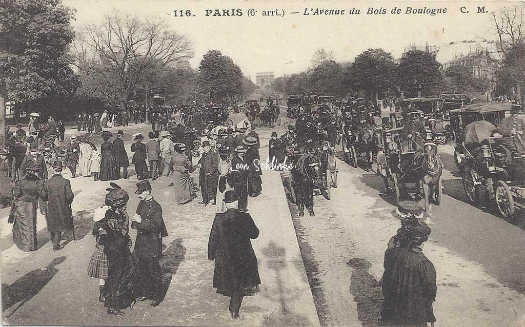 CM 116 - PARIS - L'Avenue du Bois de Boulogne