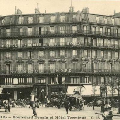 CM 1189 - PARIS - Boulevard Denain et Hôtel Terminus