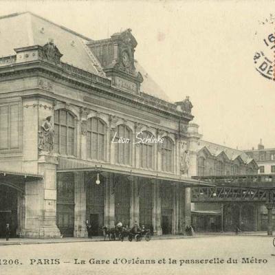 CM 1206 - La Gare d'Orléans et la passerelle du Métro