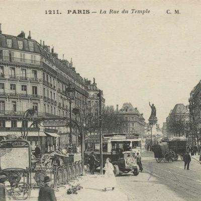 CM 1211 - PARIS - La Rue du Temple