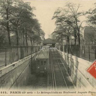 CM 1442 - PARIS (13° arrt) - Le Métropolitain au Bd Auguste Blanqui