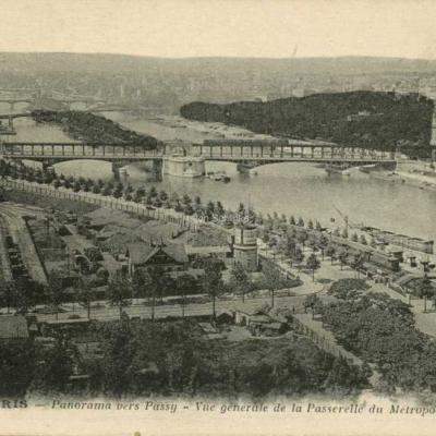 CM 148 - Panorama vers Passy - La Passerelle du Métropolitain