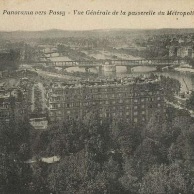 CM 148 -  Panorama vers Passy,  Vue Générale de la passerelle du Métropolitain
