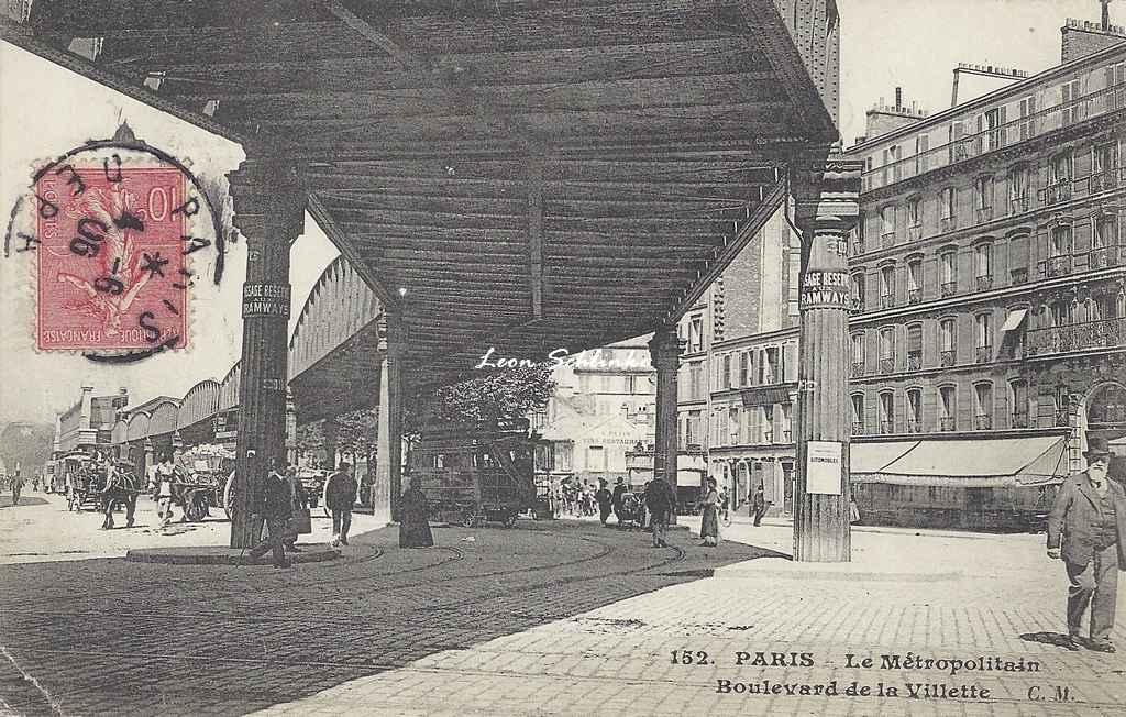 CM 152 - Le Métropolitain Boulevard de la Villette