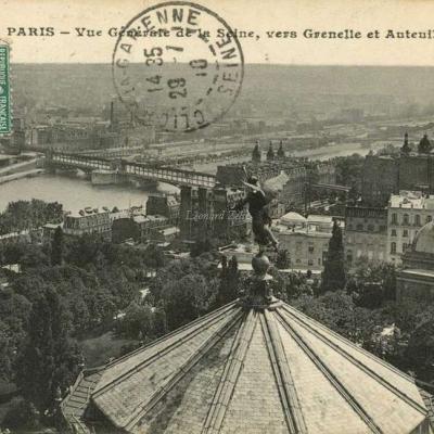 CM 158 - PARIS - Vue Générale de la Seine, vers Grenelle et Auteuil
