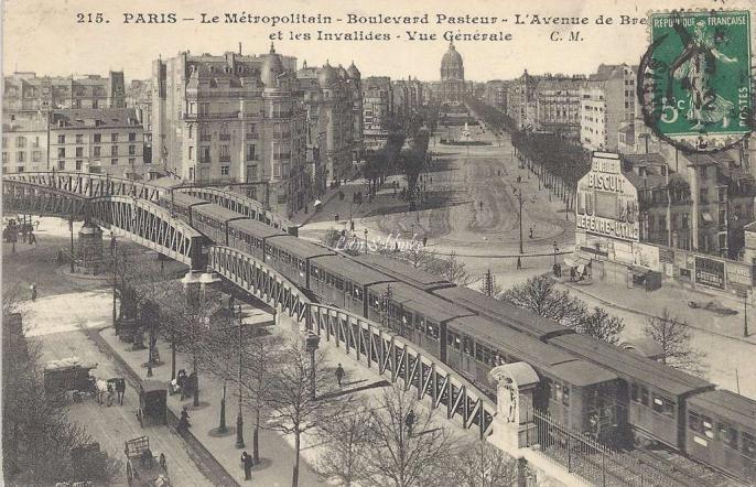 CM 215 - Le Metropolitain Boulevard Pasteur et Avenue de Breteuil