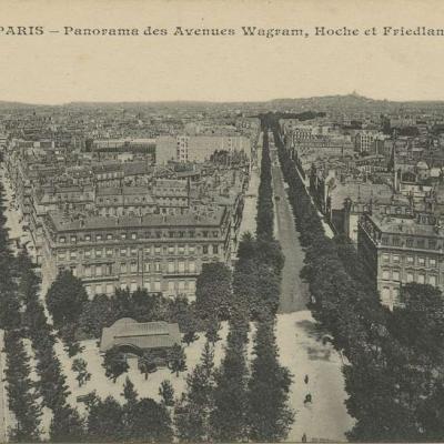 CM 219 - PARIS - Panorama des Avenues Wagram, Hoche et Friedland