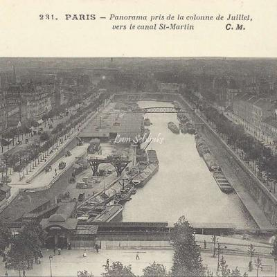 CM 231 - Panorama pris de la Colonne de Juillet