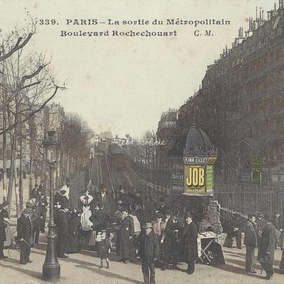CM 339 - La Sortie du Métropolitain Boulevard Rochechouart